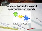 Paradox, Conundrums and Communication Spirals