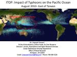 ITOP: Impact of Typhoons on the Pacific Ocean August 2010- East of Taiwan