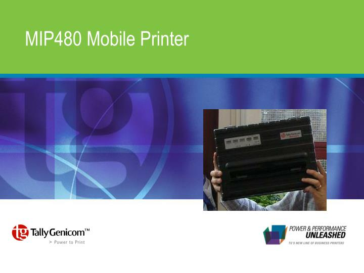 TALLYGENICOM MIP480 MOBILE PRINTER DRIVER DOWNLOAD