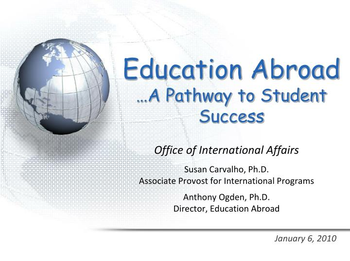 education abroad a pathway to student success n.