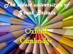 The oldest universities of Great Britain