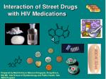 Interaction of Street Drugs with HIV Medications