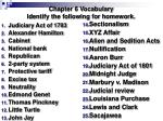 Chapter 6 Vocabulary Identify the following for homework.