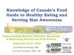 Knowledge of Canada's Food Guide to Healthy Eating and Serving Size Awareness