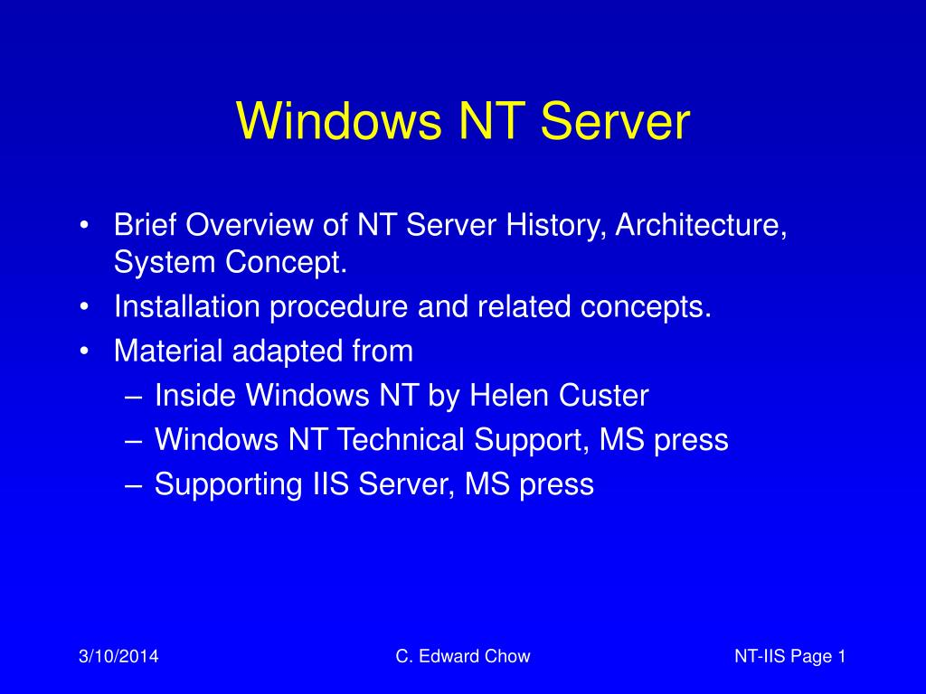 windows nt server l.