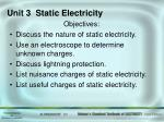 Unit 3 Static Electricity