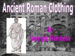Ancient Roman Clothing