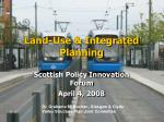 Land-Use & Integrated Planning