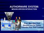 Prof. Man-Gon Park Division of IT& Comm. Colombo Plan Staff College