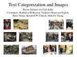 Text Categorization and Images
