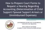 SUPERIOR COURT OF CALIFORNIA COUNTY OF ORANGE SELF-HELP CENTER/ FAMILY LAW FACILITATOR OFFICE