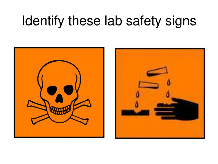 Ppt Identify These Lab Safety Signs Powerpoint Presentation Id