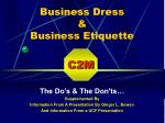 Business Dress & Business Etiquette