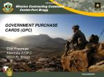 GOVERNMENT PURCHASE CARDS (GPC)