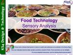 Food Technology Sensory Analysis