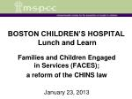 BOSTON CHILDREN'S HOSPITAL Lunch and Learn