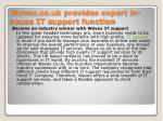 Wavex.co.uk provides expert in-house IT support function