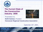 The Current State of the Construction Industry 2009