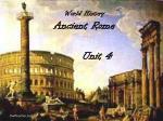 World History Ancient Rome
