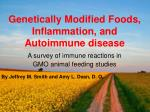 Genetically Modified Foods, Inflammation, and Autoimmune disease