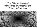 """""""The Chimney Sweeper"""" from  Songs of Innocence  and  Songs of Experience"""
