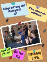 College and Young Adult Ministry (CYA) 101