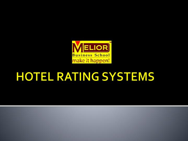 hotel rating systems n.