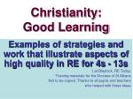 Christianity: Good Learning