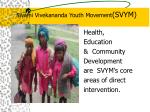 Swami Vivekananda Youth Movement (SVYM)