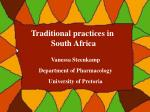 Traditional practices in South Africa