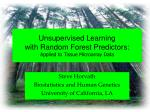Unsupervised Learning with Random Forest Predictors: Applied to Tissue Microarray Data