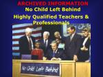 Highly Qualified Teachers & Professionals