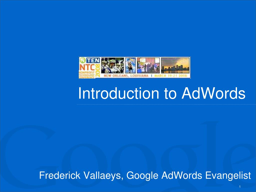 introduction to adwords l.