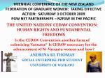 THE UNITED NATIONS' CEDAW CONVENTION: HUMAN RIGHTS AND FUNDAMENTAL FREEDOMS