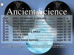 Ancient Science