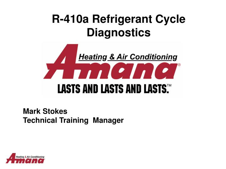 r 410a refrigerant cycle diagnostics n.
