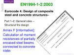 Eurocode 4: Design of composite steel and concrete structures–