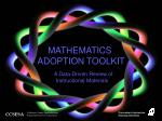 MATHEMATICS  ADOPTION TOOLKIT