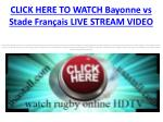 watch Bayonne vs Stade Fran??ais live Free stream Rugby HDTV