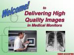 to Delivering High Quality Images in Medical Monitors