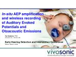 In-situ  AEP amplification and wireless recording of Auditory Evoked Potentials and Otoacoustic Emissions