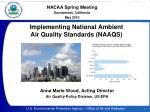 Implementing National Ambient Air Quality Standards (NAAQS)