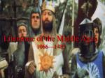 Literature of the Middle Ages 1066—1485
