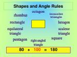 Shapes and Angle Rules