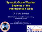 Synoptic-Scale Weather Systems of the Intermountain West