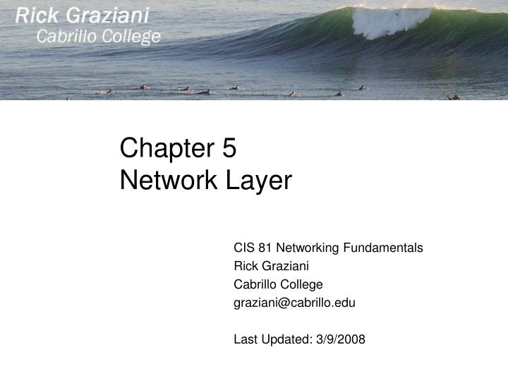 chapter 5 network layer n.
