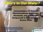 What's in Our Water?