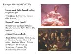 Baroque Music (1600-1750)