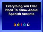 Everything You Ever Need To Know About Spanish Accents