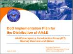DoD Implementation Plan for the Distribution of AA&E
